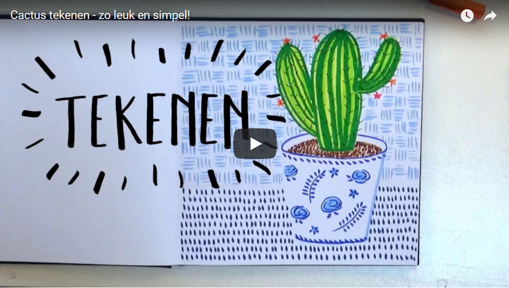 Cactus tekenen – super makkelijk en vooral leuk!